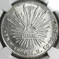 1885-Pi NGC MS 63 MEXICO 8 Reales SIlver Coin (18091301CZ)