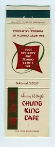 Henry Wong's Chung King Cafe, Pomona California, CA Matchbook Cover