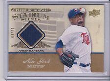 2005 UD Piece of History Johan Santana Stadium Scenes Jersey 66/90 New York Mets