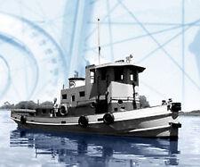 "Model Boat PLAN 24"" Esso Honduras Tug Boat Steam F/S Printed Plans & Build Notes"