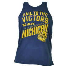 NCAA Michigan Wolverines Tank Top Navy Blue Small Mens Shirt Crew Neck Sports