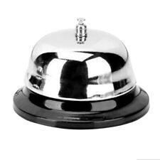Stainless Call Bell Desk Bells Ring with Black Base for Hotel Restaurants School