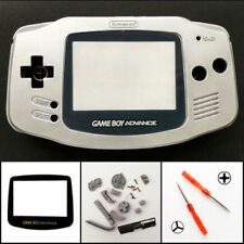 GBA Nintendo Game Boy Advance Replacement Housing Shell GLASS Screen Silver