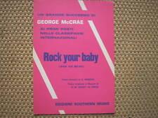 ROCK YOUR BABY NON VA BENE GEORGE McCRAE SPARTITO SHEET MUSIC ITALY 1975