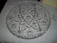 Anchor Hocking EAPC Early American Star of David LARGE PRESCUT PLATE/CAKE PLATE