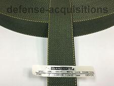 1 23/32 Inch MilSpec Military Webbing MIL-W-27265 / 4088 T/7 CAMO GREEN