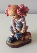 "Anri Sarah Kay 4"" Spring Fever Woodcarving Figurine ----  MINT CONDITION"