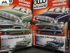 Auto World 1963 Dodge Polara Set of 2 - 1:64 Premium Series R4 A&B - 0016A