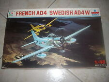 ESCI FRENCH  AD4/SWEDISH AD4 W PLASTIC MODEL 1/48