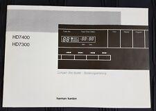 Harman/Kardon HD7400 HD7300 Compact Disc-Spieler - Bedienungsanleitung