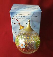 Rosenthal Weihnachtskugel Glas roter Mann Butler Diener  Øca 8 cm