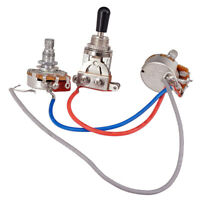 Electric Guitar Part Wiring Harness Kit 3Way Toggle Switch 1 Volume 500K Pot