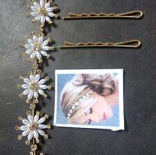 Tyra Tikka Clip Fitting Wedding Set New Head Jewelry Flower Long Strand Bendable