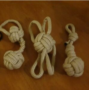 natural jute large monkey fist tuggy rope dog toy great fun very strong