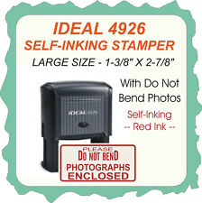 Do Not Bend-Photographs Enclosed, Trodat / Printy Self Ink Stamp, 4926 Red Ink