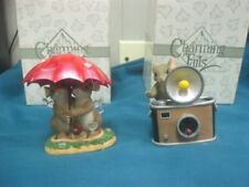 2 Fitz and Floyd Charming Tails Figurines