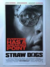 Straw Dogs  Movie Promo Poster 11X17 James Marsden