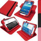 """Rosso Custodia Cover Eco-Pelle Case per Samsung Galaxy Tab 3 8.0"""" T310 T311 T315"""