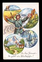 Germany Picture Postcard German 3rd Reich WW2 Cover Wehrmacht Soldier Homecoming