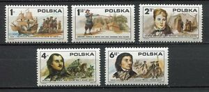 35896) Poland 1975 MNH American Revolution,Ship,5v