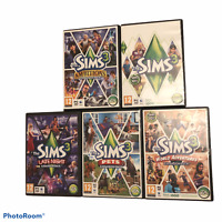 The Sims 3 PC DVD Bundle Base Game + Expansions Ambitions Pets Late Night x5