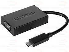 Lenovo USB-C to VGA plus Power Adapter (4X90K86568) Type-C to VGA adapter Cable