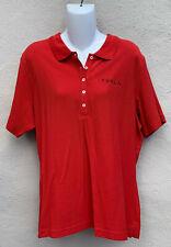 New Tesla Motors Womens 5 Button Short Sleeve Corp Polo Shirt Red XXL 2XL NWT