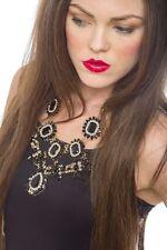 Statement Necklace Black Daisy Statement Necklace Pendant Fashion Style Jewelry