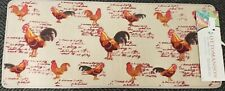 """EXTRA LONG TEXTILE RUG RUNNER (nonskid back) (18"""" x 44"""") ROOSTERS, OTTO"""