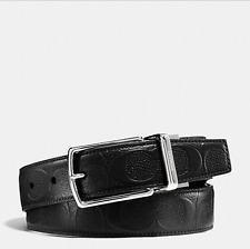 Coach Men's Waist Leather Logo Belts Belt Reversible Cut to size F55158 NWT