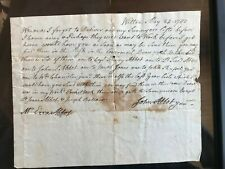 Revolutionary War Officer Letter to Father Dated May 24, 1783