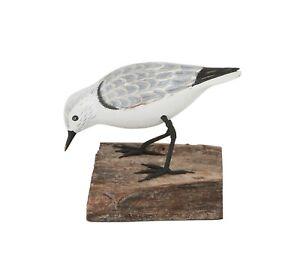 Archipelago Hand Carved Wooden Birds Sanderling Feeding