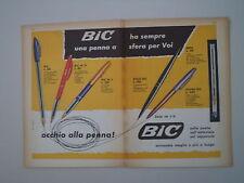 advertising Pubblicità 1961 PENNA BIC M 10/M 5/STILO/REFIL/SILVER