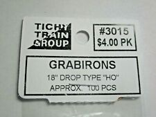 "Tichy #293-3015 Grabirons 18"" Drop Type Approx 100 Pieces HO Scale"