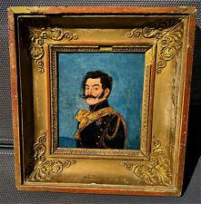 ancien tableau portrait d'un militaire epoque empire 19 eme
