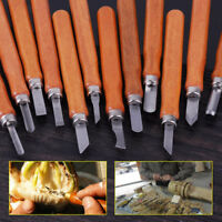 12pcs Wood Carving Chisel Sculpture Knife Gouges Woodworking Carpentry Tool Set