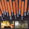12pcs Wood Carving Chisel Sculpture Knife Gouges Woodworking Carpentry Tool Set