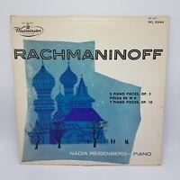 Nadia Reisenberg - Rachmaninoff Piano Pieces LP VG+ WL- 5344 Westminster