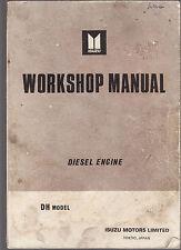 ISUZU DH MODEL DIESEL ENGINE WORKHOP MANUAL  : REPAIR & SERVICE