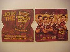 Beer Bar Coaster ~*~ Join the  XXXX Maroon Corp Yeah! ~*~ Queensland, AUSTRALIA