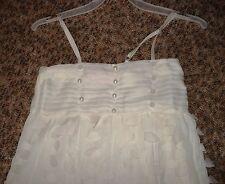 Aufwendiges Festkleid,Sommerkleid Blumenkinder-Kleid weiß Gr.98/104, Neu