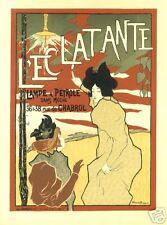 Art Nouveau Style Advertising Print  'Lec Latante'