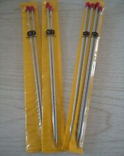 """WHOLESALE FOUR KNITTING NEEDLES 10"""" SINGLE POINT: 2 SETS EACH #2 & 6  -  NEW."""