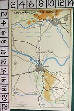 WW2 MAP ARNHEM AND THE THREE RIVERS - NUMEGEN OOSTERBEEK