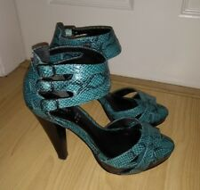 LOVE LABEL Green Snakeskin High Heels Shoes size 5 041