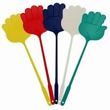 Pack of 5 Coloured Plastic Fly Wasp Swatters Swat Insect Catcher Bug Swatter