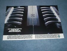 "1990 BMW 750iL Vintage 12-cylinder Engine Ad ""Open the Hood Of Your Car...."""