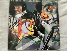 "Wishbone Ash No Smoke without Fire autographed vinyl LP + free 7"""