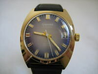 NOS NEW VINTAGE SWISS AUTOMATIC WATER RESIST DATE ANALOG MEN'S GIGANDET WATCH