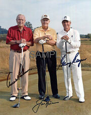 JACK NICKLAUS ARNOLD PALMER GARY PLAYER SIGNED GOLF LEGENDS 8x10 REPRINT PHOTO